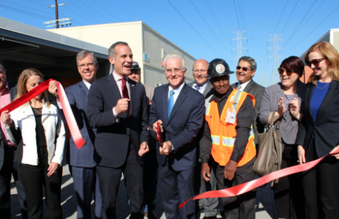 LA Mayor Eric Garcetti, Councilman Paul Krekorian Ribbon Cutting