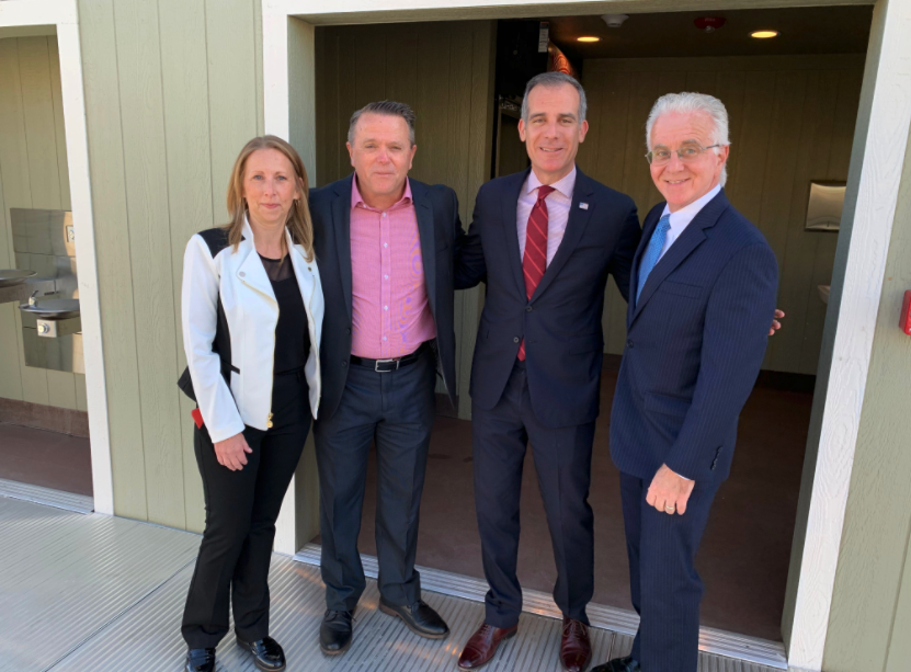 CEO-Ken Craft, Sr. Dir. of Programs-Laurie Craft, Councilman Paul Krekorian, LA Mayor Eric Garcetti
