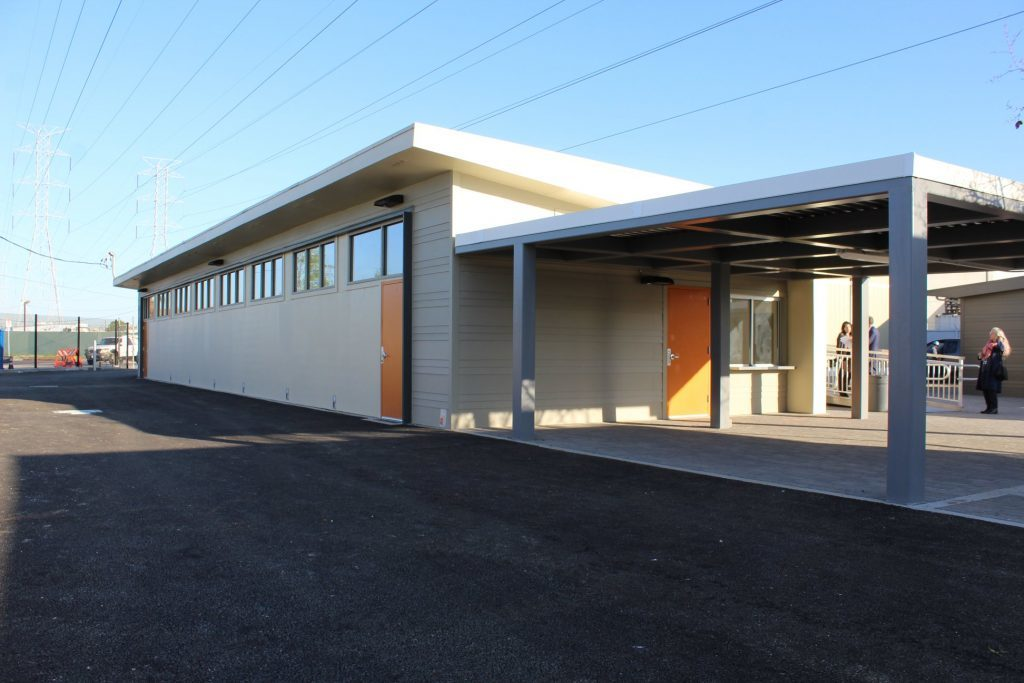 Exterior View of the New Navigation Center in North Hollywood